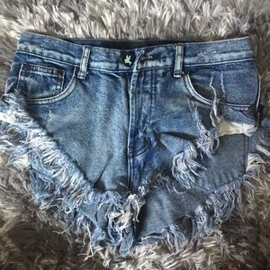 Very short high waisted shorts